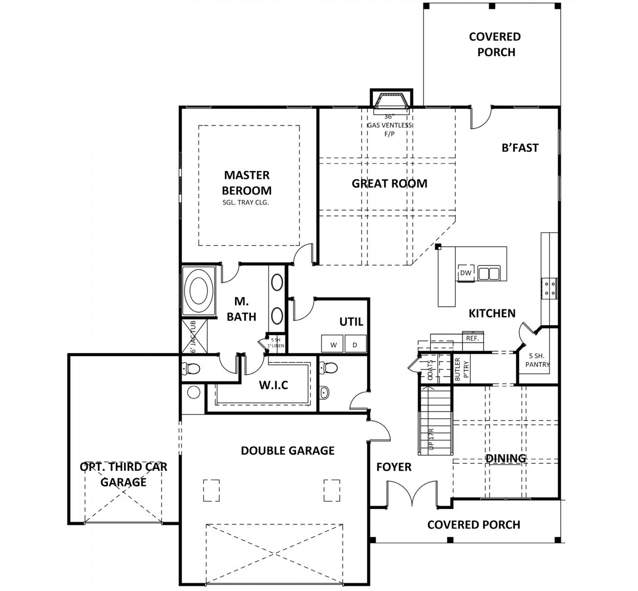Main level at Estates at Cameron Manor