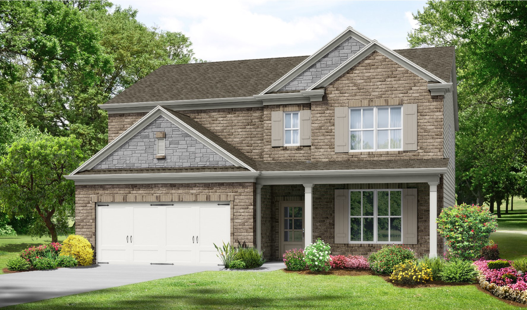 A Front Entry at Hunts Mill Estates