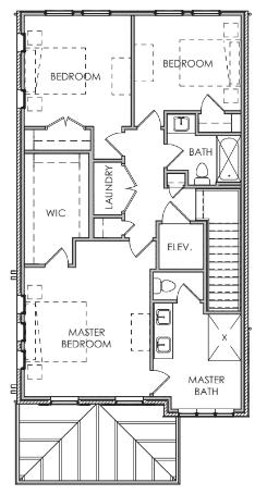 Third Floor W/ Elevator