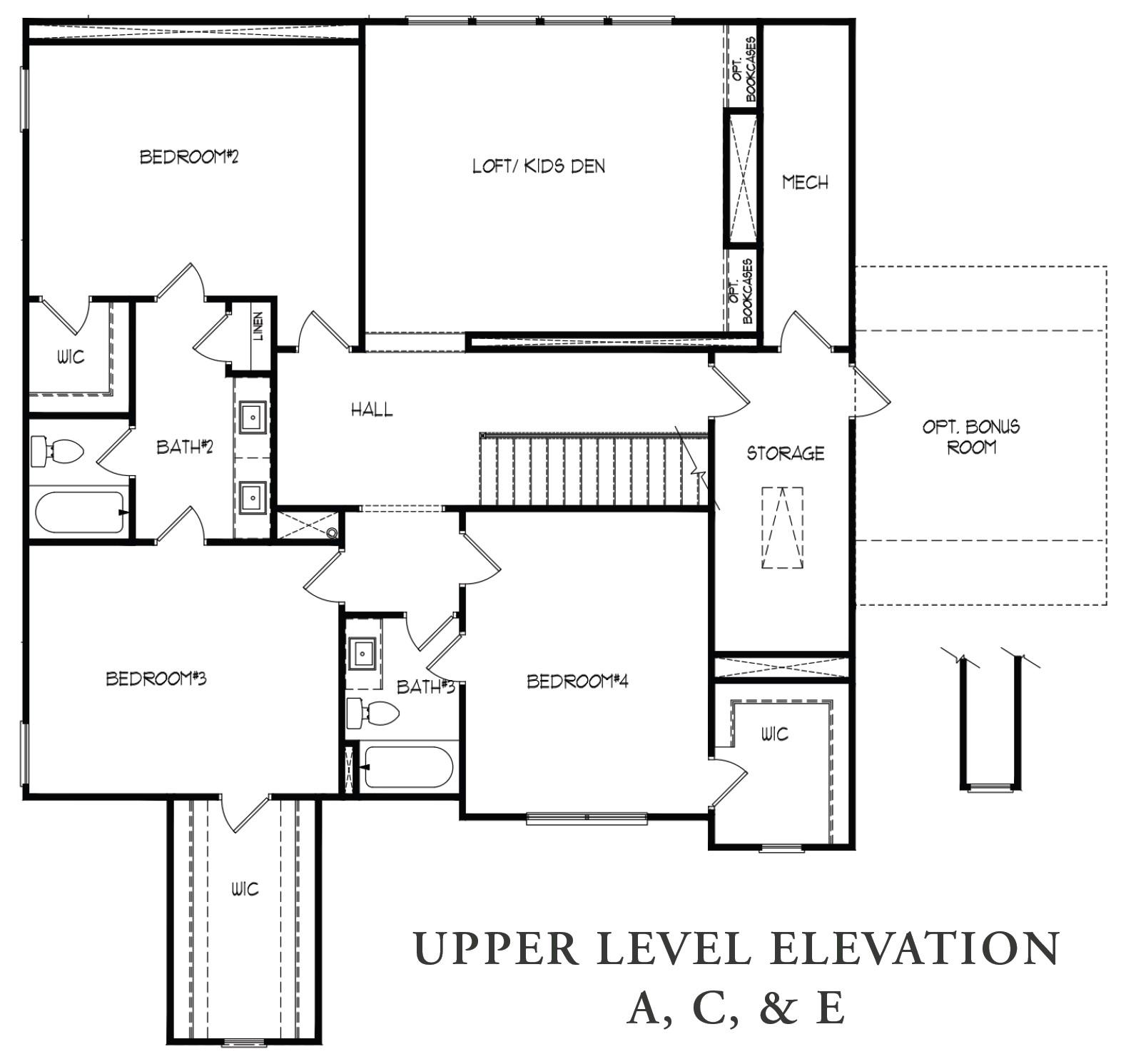 Upper Level A,C, & E